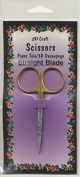 Craft Scissors 3 1/2 Gold Straight