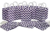 Medium Kraft Gift Bag, Chevron Design, Bulk set of 2 Dozen