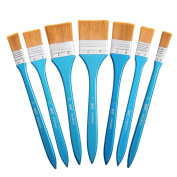 Artist Large Paint Brush, Flat Wash Brushes Set for Acrylic, Oil, Watercolour and Plein Air Painting -Gesso- Art Supplies by Bianyo