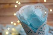 Arctic Blue Silk Rose Petals Confetti for Weddings in Bulk by PaperLanternStore