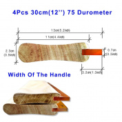 4pcs For Each Kinds Width Of Handle Oiliness 75 Durometer Silk Screen Printing Squeegee (Oiliness 30cm