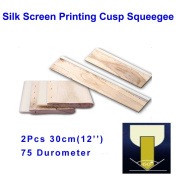 2pcs For Each Kinds Oiliness 75 Durometer Silk Screen Printing Cusp Squeegee (Oiliness 30cm