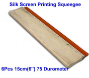 6pcs For Each Kinds Oiliness 75 Durometer Silk Screen Printing Squeegee (Oiliness 15cm