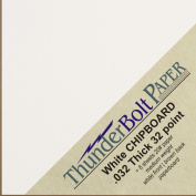 150 Sheets Chipboard 32pt (point) 10cm X 10cm Medium Weight White Coated on Brown KraSquare ft Size .032 Calliper Thick Paper Cardboard Craft|Packaging PaperBoard