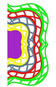 Cheery Lynn Designs DL187 Reflections Boutique Mega Dies Kaleidoscope Lace Mega Doily Dies 5-pc Set
