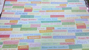 12x12 Celebrate - Brights Word Paper - 4 Sheets