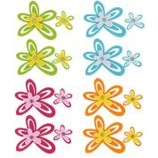 Scrapbooking Art 3D Felt Small Floral Embellishments, Pack of 16