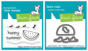 Lawn Fawn - Happy Summer - Clear Stamp and Die Set