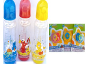 Sesame Street 240ml Feeding Bottles with Pacifiers (For the super Awesome Mom