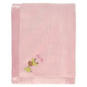 Aria Personalised Baby Blanket - Pink with Giraffe & Name Embroidery