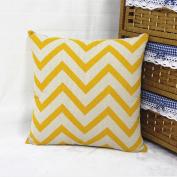 DDU(TM) 1Pc Orange Ripple Wave Cotton Linen Home Sofa Throw Pillow Cushion Case Cover Pillowcase