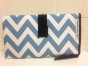 Portable Travelling Baby Changing Pad Mat Light Blue 60cm X 70cm folds to 7X12
