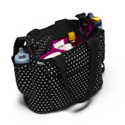 Premium Nappy Bag Baby Designer Nappies Bags Organiser in Small Black and White Design