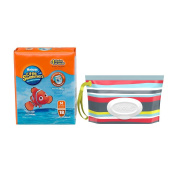 Huggies Little Swimmers Nappies & Wipes Bundle - Medium - 18 ct