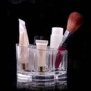 Clear Acrylic Brush Pot Shape Cosmetic Storage Organiser Makeup Display Rack Box
