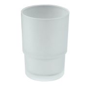 Angle Simple GZ-A1 Frosted Glass Bathroom Replacement Tumblers for Angle Simple Toothbrush Holder