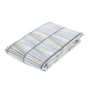 Bar III Unisex Astrid Cotton Sateen Reversible Pillow Sham Grey Euro