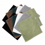 BambooMN Brand - Super Soft 70% Rayon from Bamboo 30% Organic Cotton Wash Cloth, 535 GSM - 12pc - Assortment C