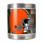CLEVELAND BROWNS NFL STAINLESS STEEL CAN HOLDER WITH HI-DEF METALLIC GRAPHICS