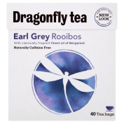 Dragonfly Tea Naturally Caffeine Free Rooibos Earl Grey (40) - Pack of 2