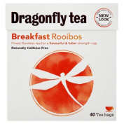 Dragonfly Tea Naturally Caffeine Free Rooibos Breakfast Tea (40) - Pack of 2