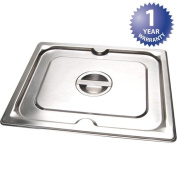 VOLLRATH REFRIGERATION Super Pan 3 Stainless Steel Steam Table Pan Cover with Handle Half-size 93200