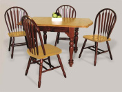 5 pc Drop Leaf Extension Dining Set with Arrowback Chairs