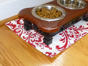 White & Red Pet Place Mat