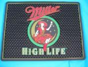 Miller High Life Girl In The Moon 12x9 Rubber Bar Mat