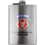 Army 20th Engineer Brigade 240ml Flask