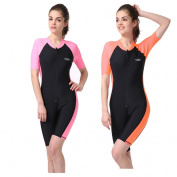 New Sun-protection UPF50+ One Piece Short-sleeve Snorkelling Surfing Suit Swimsuit