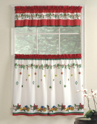 Lorraine Home Fashions Gift Box Tier and Valance Set, 90cm , Multicoloured
