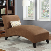 Handy Living 340CL-AAA89-084 Microfiber Chaise, Dark Brown