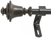 Montevilla 1.6cm Bell Window Treatment Rod Set, 26 to 120cm , Vintage Bronze