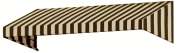 Awntech 3m New Yorker Window/Entry Awning, 46cm by 90cm , Brown/Tan