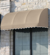 Awntech 3m New Yorker Window/Entry Awning, 60cm by 90cm , Grey/White