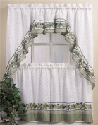 CHF & You Cottage Ivy Country Curtain Tier And Swag Set, Multi, 140cm X 90cm