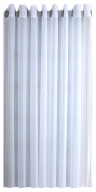 Ricardo Oyster Bay Sheer Voile Grommet Patio Panel With Attachable Wand, 110 X 84, Lemonade