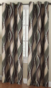 No. 918 Intersect Curtain Panel, 120cm by 210cm , Spruce