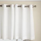 Lorraine Home Fashions Jackson 150cm x 60cm Tier Curtain Pair, White