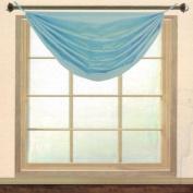 Editex Home Textiles Elaine Grommets without Trim Waterfall Valance, 90cm by 90cm , Aqua
