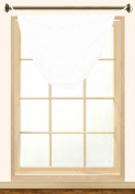 Editex Home Textiles Elaine Grommets without Trim Waterfall Valance, 90cm by 90cm , White