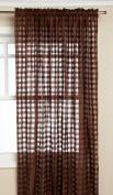 Editex Home Textiles Leana Window Panel, 140cm by 210cm , Chocolate