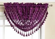 Editex Home Textiles Leana Waterfall Valance, 100cm by 90cm , Purple