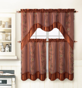 3 Piece Kitchen Window Curtain Treatment Set