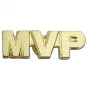 MVP Most Valuable Player Chenille 1.9cm Lapel Pin