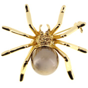 Brown Pearl Spider Pin
