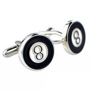 Black and White Lucky Number Eight Cufflinks