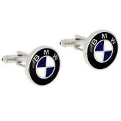 BMW Logo Automotive Car Black And Blue Cufflinks