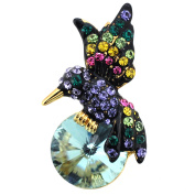 Multicolor Hummingbird Lapel Pin